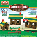 Ideal Frontier Logs Classic All Wood 220-Piece Construction Set - Chickadee Solutions - 1