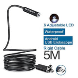 Fantronics 5M Rigid Cable Android Borescope Endoscope Camera Waterproof OTG M... - Chickadee Solutions - 1