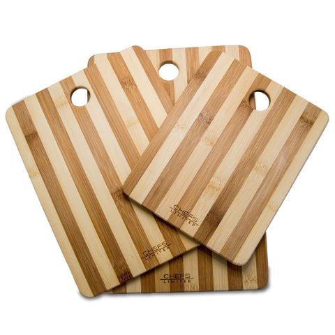 Chefs Limited 3 Piece Bamboo Cutting Board Set with Handle - Chickadee Solutions - 1