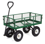 Gorilla Carts Steel Garden Cart with Removable Sides with a Capacity of 400 l... - Chickadee Solutions - 1