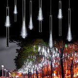 OMGAI 30cm 8 Tubes 144 LED Meteor Shower Rain LightsDrop/Icicle Snow Falling ... - Chickadee Solutions - 1