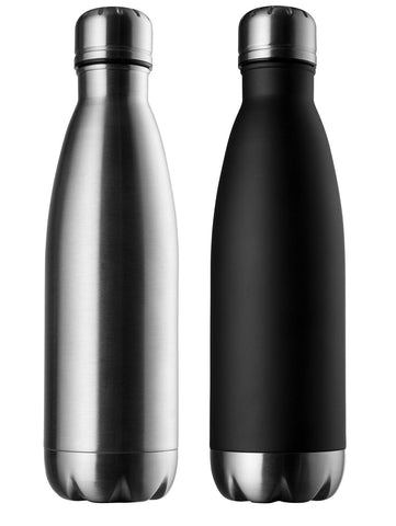 Modern Innovations Stainless Steel Water Bottles - 17 OZ Set of 2 made of BPA... - Chickadee Solutions - 1