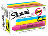 Sharpie Tank Style Highlighters Chisel Tip Assorted Colors Box of 12 12-Pack - Chickadee Solutions - 1