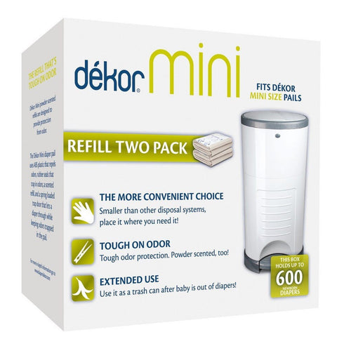 Dekor mini refill two count chickadee solutions for Dekor mini diaper pail