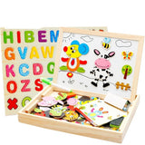 Joymoze Wooden Multifunctional Magnetic Jigsaw Puzzle Baby Toys Animal Easel ... - Chickadee Solutions - 1