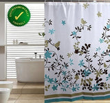 Blu-Pier Decorative PEVA Mildew Free Water Repellant Shower Curtain 72x72 Com... - Chickadee Solutions - 1