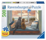 Ravensburger 14903 Window Buddies - 500 Piece Large Format Puzzle Puzzle - Chickadee Solutions - 1