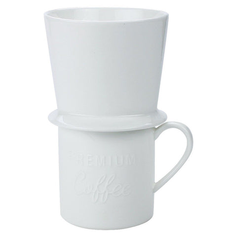 Sweese Porcelain Coffee Brewer Set Pour Over Coffee Dripper with 14 OZ Mug Wh... - Chickadee ...