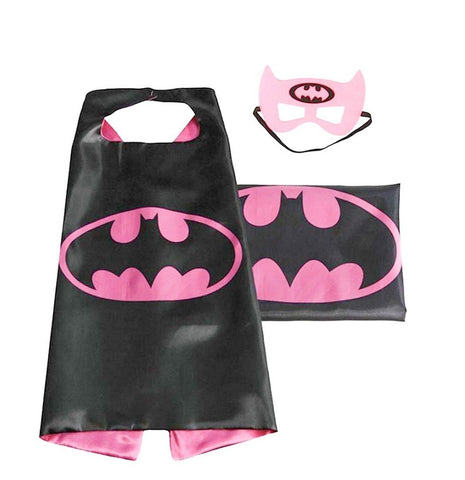 (Batgirl) ROXX Cape and Mask Costume for Child Superhero Superman Kids Girl A... - Chickadee Solutions