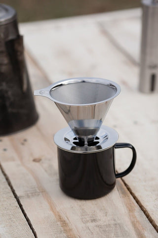 Pour Over Coffee Maker Stand : JavaPresse Pour Over Coffee Maker with Stand Clever Hand Drip Brewer with R... Chickadee ...