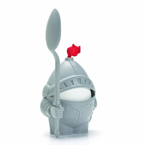 1 X Arthur Boiled Egg Cup Holder with Eating Spoon Knight in shining armour - Chickadee Solutions - 1