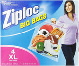 Ziploc Big Bag Double Zipper X-Large 4-Count X-Large, 4-Count - Chickadee Solutions - 1