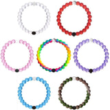 New Silicone Beaded Bracelet Large 7PCS (Small Blue+Purple+Pink+Camo+Neon+Red... - Chickadee Solutions