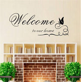 FOrU Wall Sticker Welcome to Our Home Lettering Wallpaper Decal Removable Wal... - Chickadee Solutions - 1