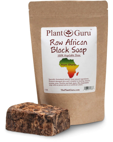 #1 Best Quality Raw African Black Soap Imported From Ghana 1lb. Grade A P... - Chickadee Solutions - 1
