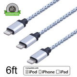 Amoner 3Pack 6FT Nylon Braided iPhone Lightning Charging Cable 8 Pin to USB C... - Chickadee Solutions - 1