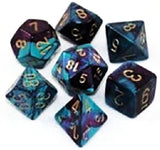 Custom & Unique {Standard Medium} 7 Ct Pack Set of [D4 D6 D8 D10 D12 D20] Ass... - Chickadee Solutions