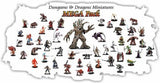 10 Assorted D&D Dungeons and Dragons Miniatures Figures Minis - Chickadee Solutions