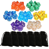 7 x 7 (49 Pieces) Polyhedral Dice 7 Color Dungeons and Dragons DND MTG RPG D2... - Chickadee Solutions - 1