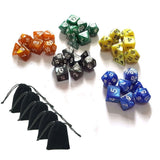 SmartDealsPro 5 x 7-Die Series 5 Colors Symphony Dungeons and Dragons DND RPG... - Chickadee Solutions - 1