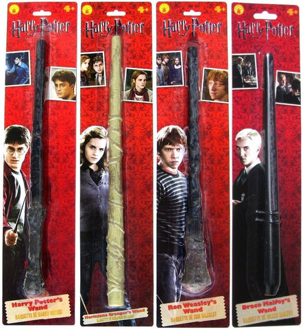 Bundle - 4: Harry Potter Ron Weasley Hermione Granger Draco Malfoy Magic Wands - Chickadee Solutions