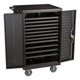 "Learniture NOR-GNO1007A-SO Assembled 24-Outlet Tablet Recharging Cart 40"" Hei... - Chickadee Solutions - 1"