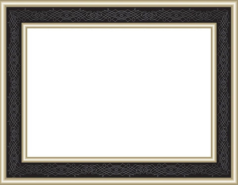 "Great Papers! Black Frame Embossed and Gold Foil Certificate 8.5"" x 11"" 15 Co... - Chickadee Solutions"