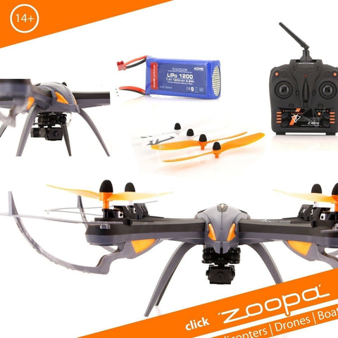 Zoopa Q 600 Mantis - 6-Axis Gyro RC Quadcopter Drone with integrated HD Camer... - Chickadee Solutions - 1
