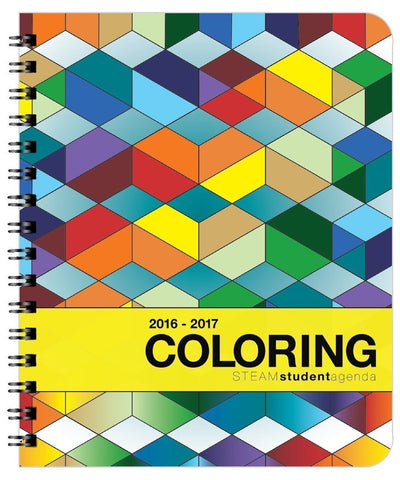 2016-2017 Coloring Academic Agenda (7x8.5) Medium - Weekly & Monthly Organize... - Chickadee Solutions - 1