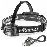 Foxelli USB Rechargeable Headlamp Flashlight - Provides up to 100 Hours of Co... - Chickadee Solutions - 1