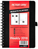 Action Day Planner 2016 Jan-Dec Calendar - Daily Weekly Yearly Organizer & Go... - Chickadee Solutions - 1