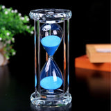 30 Minutes Hourglass SZAT Sand Timer Romantic Crystal Sandy Clock with Blue S... - Chickadee Solutions - 1