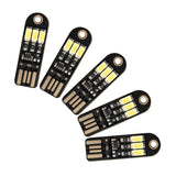 DROK 5PCS 3LEDS Handy USB Night Light 5V 150mA 6000k Pocket Nightlight with U... - Chickadee Solutions - 1
