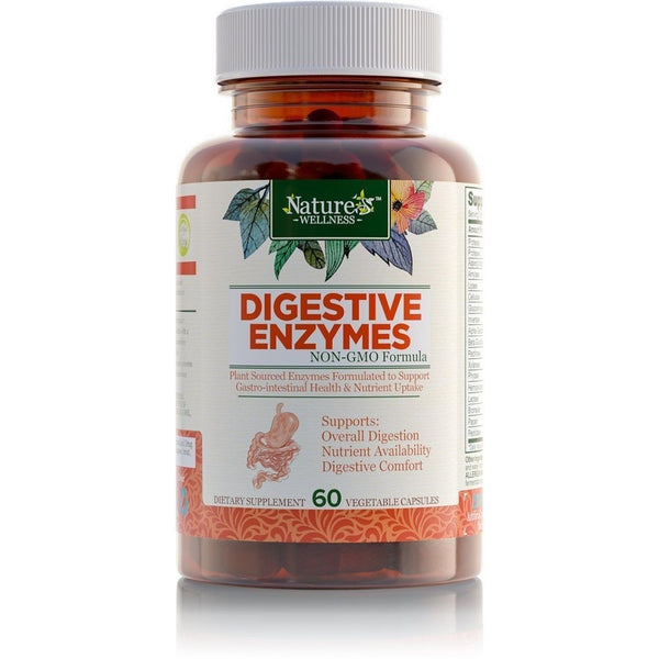 Digestive Enzyme Support Supplement By Nature'S Wellness ...