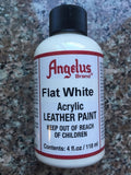 (Ship from USA) Angelus Flat White acrylic leather paint in 4oz bottle *GWE84... - Chickadee Solutions