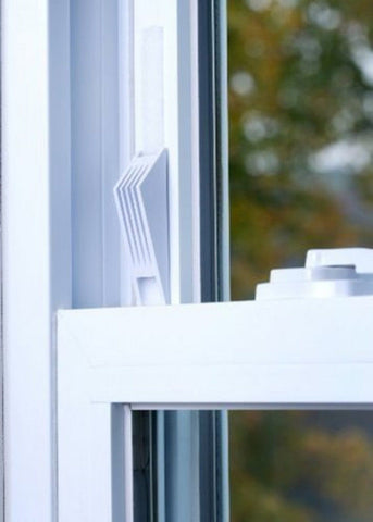 (1) Cresci Products Window Wedge (2 Per Pack) WHITE color 2 Window Wedges - Chickadee Solutions - 1