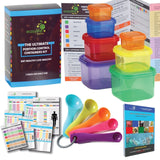 ALL IN ONE Portion Control Containers (7 Piece) Kit With 5 MEASURING SPOONS a... - Chickadee Solutions - 1