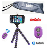 Flexible Tripod - Cell Phone Tripod Adapter - Bluetooth Remote Control - Trav... - Chickadee Solutions - 1
