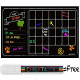 ChalkTastic Chalkboard Wall Calendar - Large Monthly Dry Erase Decal Wall Cal... - Chickadee Solutions - 1