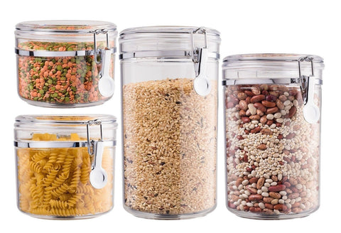 Bellemain 4 Piece Airtight Acrylic Canister Set Food Storage Container - Chickadee Solutions - 1
