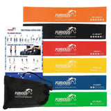 Furious Fitwear Resistance Exercise Mini Bands Set - 6 Heavy Duty Loops for A... - Chickadee Solutions - 1