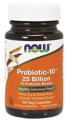 NOW Foods Probiotic-10 25 Billion 50 Vcaps - Chickadee Solutions - 1