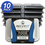 INEVIFIT Meal Prep Single Compartment BPA FREE Premium Food Storage Container... - Chickadee Solutions - 1