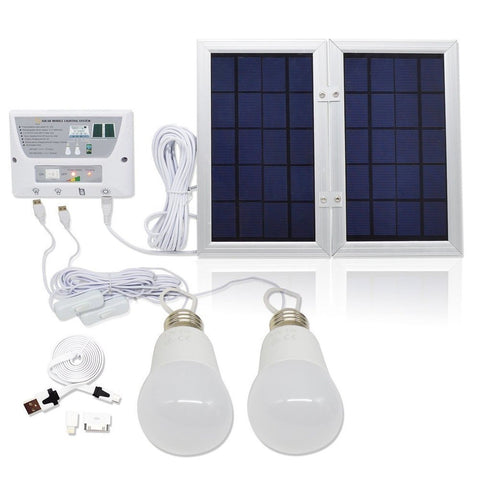 [6W Panel Foldable] HKYH Solar Mobile Light System Solar Home DC System Kit 3... - Chickadee Solutions - 1