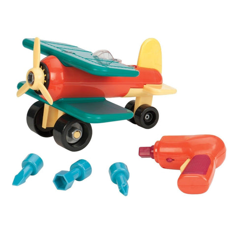 Battat Take-A-Part Toy Vehicles Airplane Green - Chickadee Solutions - 1