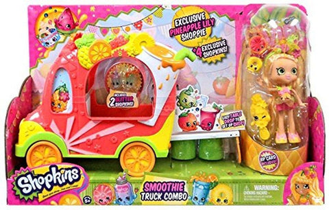 Shopkins Shoppies Smoothie Truck Combo Playset - Chickadee Solutions