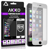 Akiko iPhone 6 6s White Screen Protector Akiko New 2.5D Full Screen Tempered ... - Chickadee Solutions - 1
