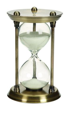 Deco 79 Metal/Glass Quarter Hourglass with 15 Minutes Time Interval - Chickadee Solutions