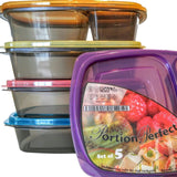 Portion Perfect Premium Meal Prep Containers/Portion Control Containers/Bento... - Chickadee Solutions - 1