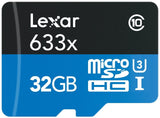 Lexar High-Performance MicroSDHC 633x 32GB UHS-I w/USB 3.0 Reader Flash Memor... - Chickadee Solutions - 1